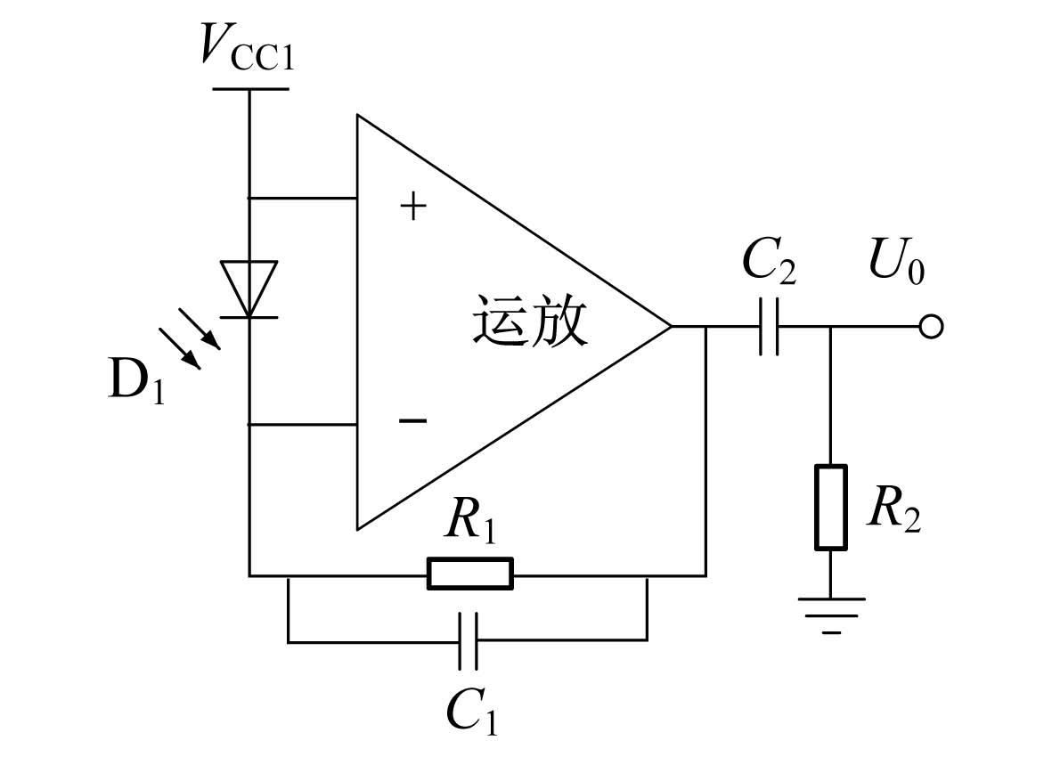 前置放大电路用于将光电探头接收到的光信息